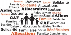 Pension alimentaire et la Caisse d'allocations familiales.