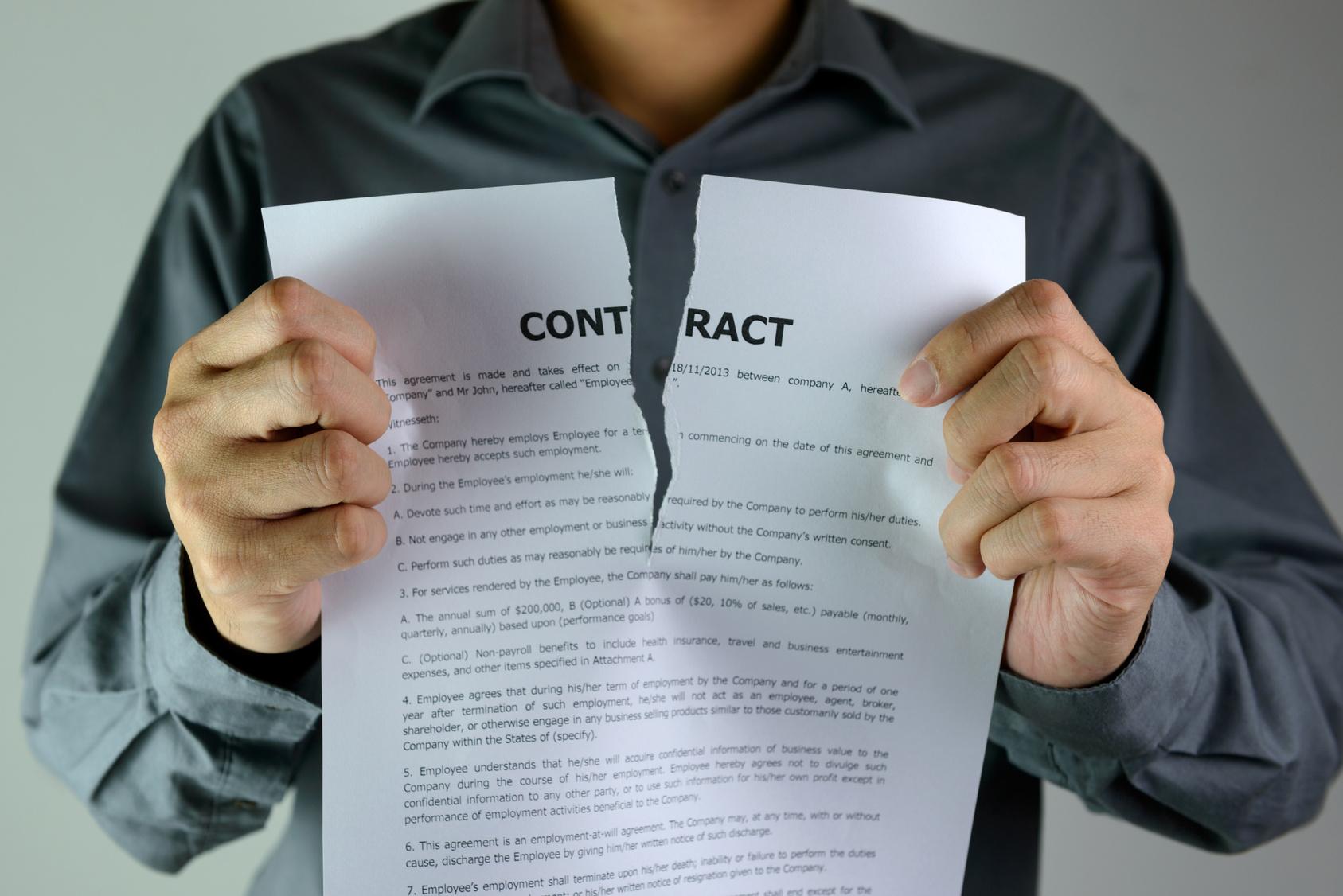La rupture conventionnelle d'un contrat
