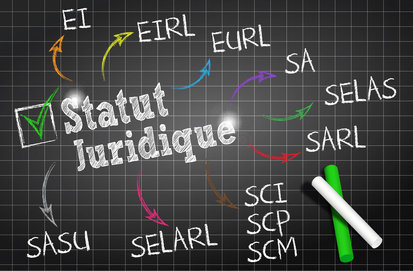 différents statuts juridiques France.