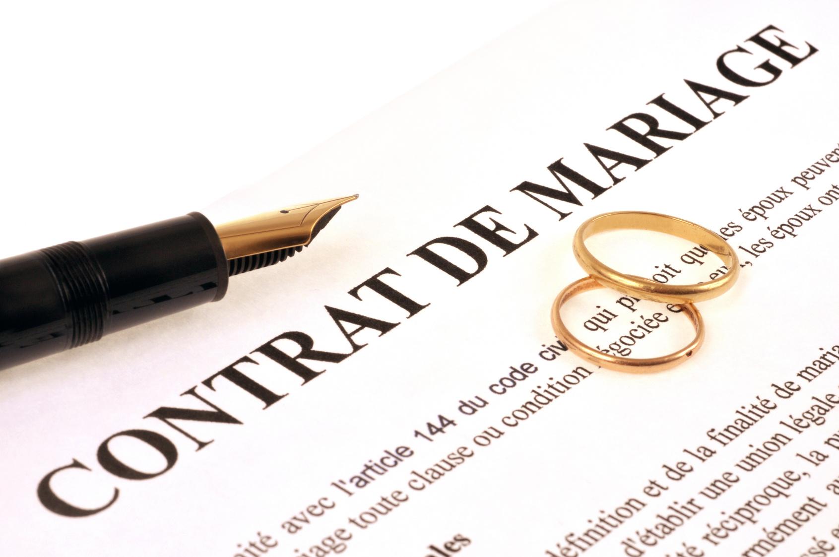 Prix D Un Contrat De Mariage