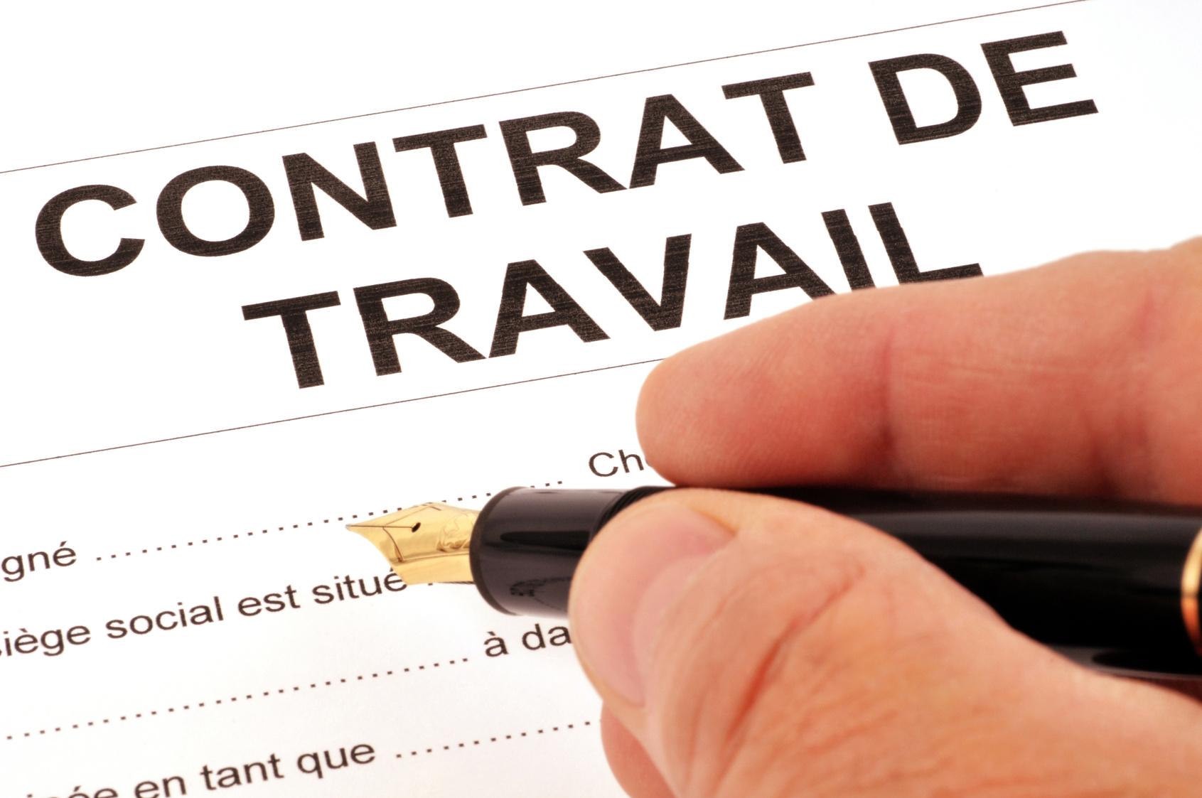 contrat travail